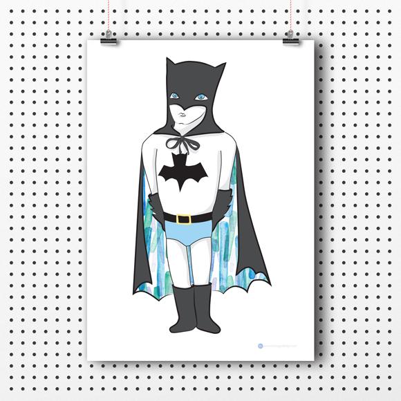 Free A4 Batboy Printable