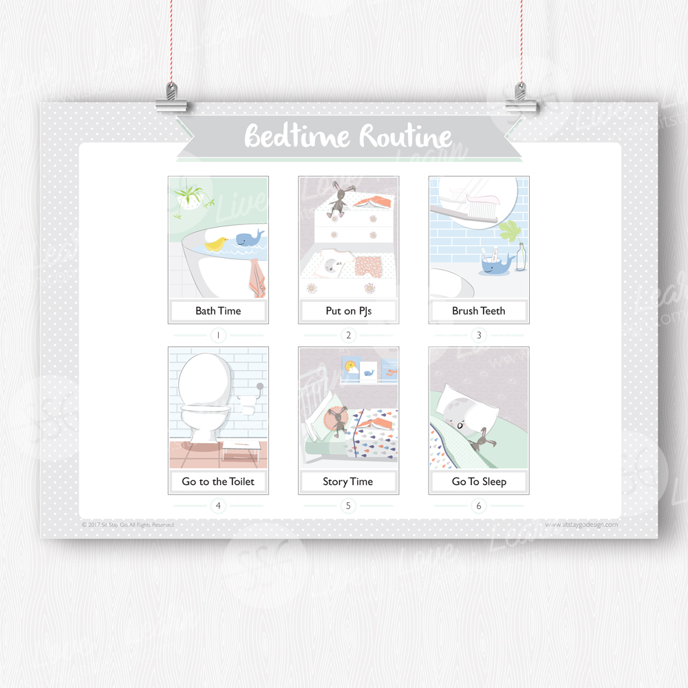 graphic about Bedtime Routine Chart Printable known as Bedtime Program Chart - Printable - Sit Live Move