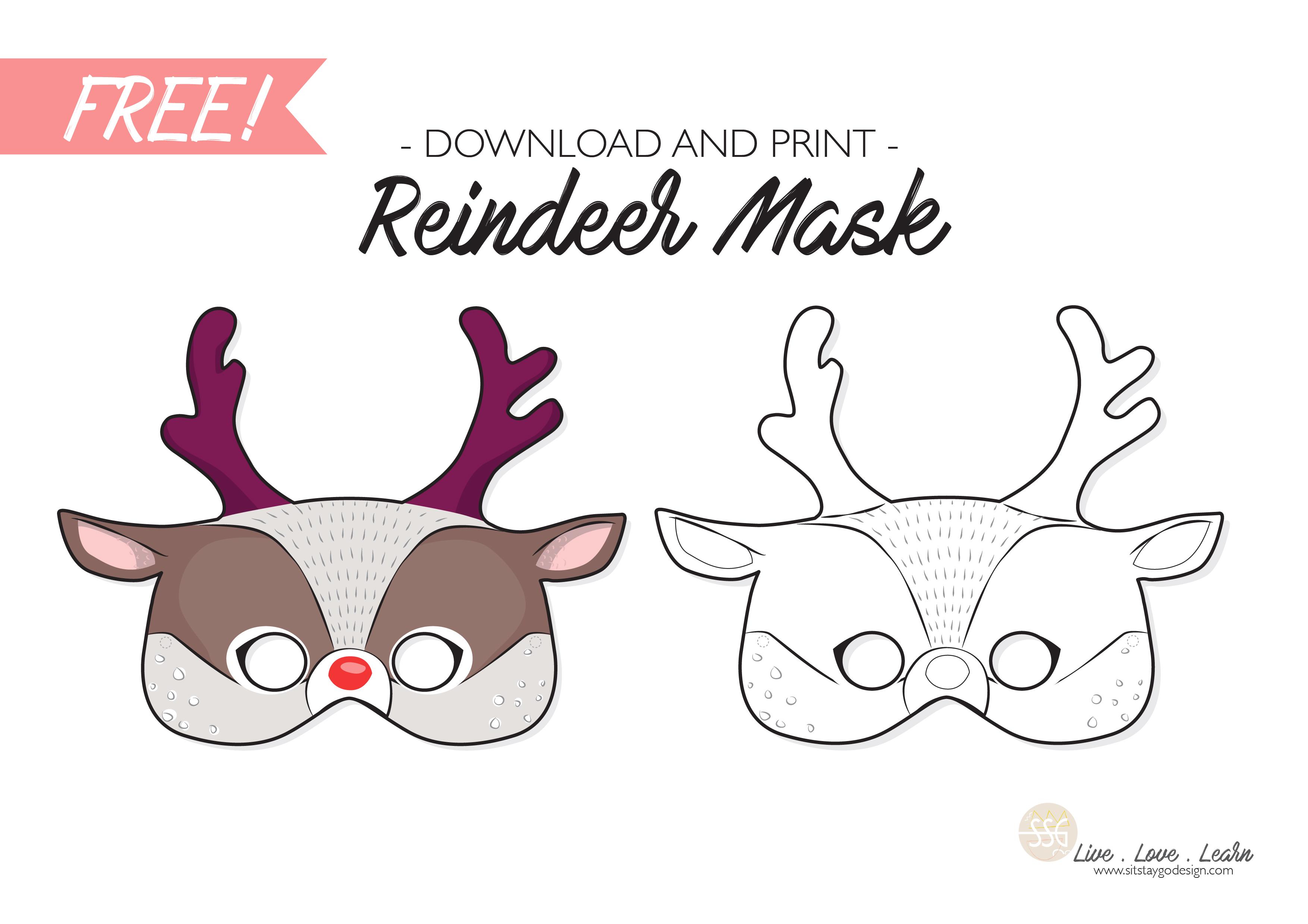 reindeer printable template